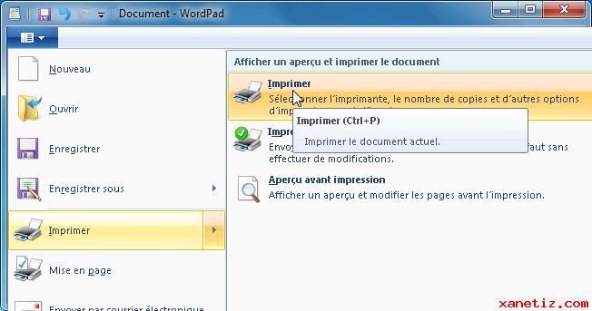 comment mettre un fichier en pdf sur wordpad