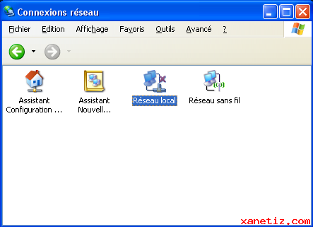 Installer un r�seau local avec Windows