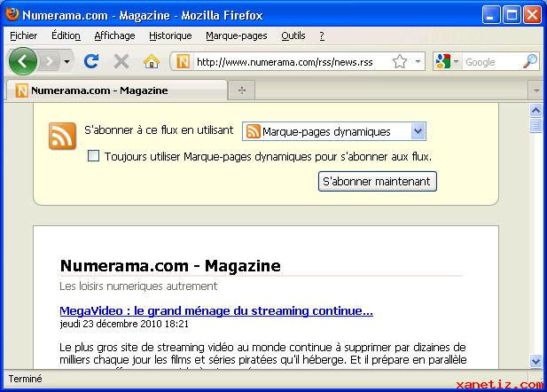marque page firefox